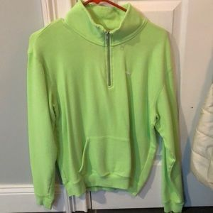 Lime Green victoria secret half zip